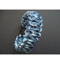 MALAMUT - Bransoletka surwiwalowa VIPER - 3m linki - Paracord 550 USA - Blue Snake