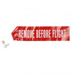101 Inc - Taśma bezpieczeństwa do samolotu - Remove Before Flight - Czerwony