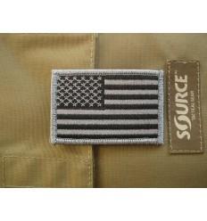 Patch - Naszywka US Flag - Silver