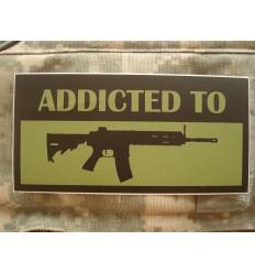 KAMPFHUND - Naklejka Addicted to HK416 - Oliwkowy