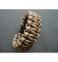 MALAMUT - Bransoletka surwiwalowa VIPER - 3m linki - Paracord 550 USA - Military Brown