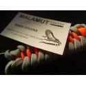 MALAMUT - Brelok surwiwalowy do kluczy IGUANA - Paracord 1,4m+0,5 (USA) - Grey / Orange