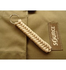 MALAMUT - Brelok surwiwalowy do kluczy Salamandra - Paracord 1m (MADE USA) - Military Tan