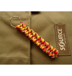 MALAMUT - Brelok surwiwalowy do kluczy Salamandra - Paracord 1m (MADE USA) - Fire Ball