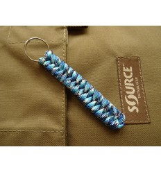 MALAMUT - Brelok surwiwalowy do kluczy Salamandra - Paracord 1m (MADE USA) - Blue Snake