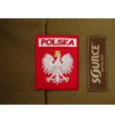 Naszywka Godło Polski - Orzeł Biały w Koronie - Napis