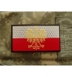 KAMPFHUND - Naszywka Polska Godło 3D - Duża - Kolor - Gen I