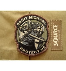 MIL-SPEC MONKEY - Naszywka Saint Michael Protect Us - Saint-M Modern- Forest