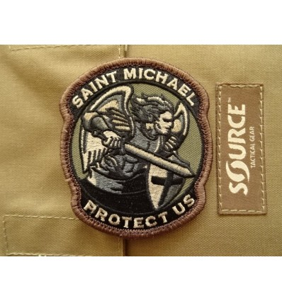 Naszywka MIL-SPEC MONKEY Saint Michael Protect Us Forest