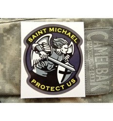 MIL-SPEC MONKEY - Naklejka Saint Michael Protect Us
