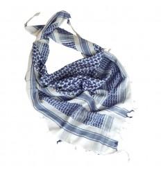 101 Inc. - Arafatka PLO Scarf 100% Cotton - Biało / Niebieski