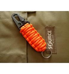 MALAMUT - Brelok surwiwalowy do kluczy SnapCOBRA - Stalowa klamra - Paracord 2,3m - Orange