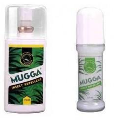 Mugga - Zestaw preparatów na owady Kleszcze Komary Meszki - 20 / 9,5% DEET - SPRAY + ROLL-ON