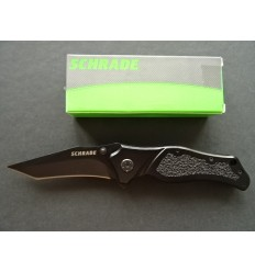 Schrade - Folding Knife Re-Curve Tanto Black Linerlock - SCH203T - Nóż składany