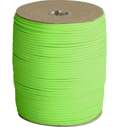Paracord MIL-SPEC 550-7 / 4mm kontraktowy Neon Green Brown MADE IN USA - 1 metr