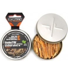 Exotac - Rozpałka tinderTin Fatwood Splinters - 1500-SPL