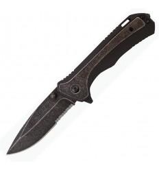 Schrade - Serrated Drop Point Linerlock - SCH501S - Nóż składany
