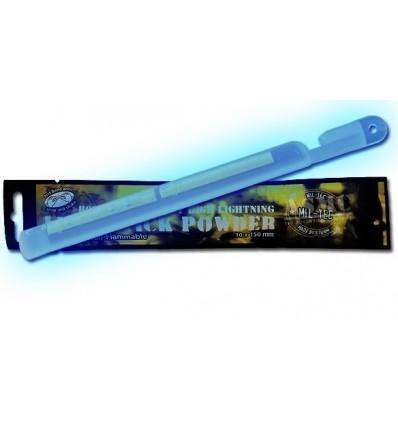 Mil-Tec - Lightstick światło chemiczne - Powder - 24h - Zwiększona siła światła - 15cm - Niebieski