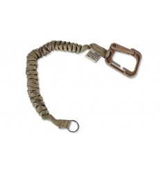 Cetacea Tactical - Smycz taktyczna - Poly-Bina Covered Mini Coil Tether - Coyote Brown