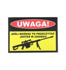 Combat-ID - Naklejka - UWAGA!