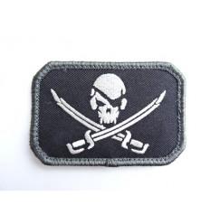MIL-SPEC MONKEY - Naszywka PirateSkull Flag - SWAT
