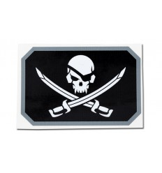MIL-SPEC MONKEY - Naklejka - Pirateskull Flag