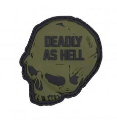 101 Inc. - Naszywka Deadly As Hell - 3D PVC - Zielony OD