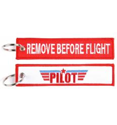 Brelok / Zawieszka do kluczy - REMOVE BEFORE FLIGHT - PILOT