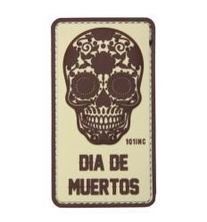 101 Inc. - Naszywa Dia De Muertos /Dzień Umarłych/ - 3D PVC - Coyote