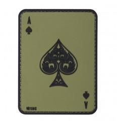 101 Inc. - Naszywa Ace of Spades - 3D PVC - Zielony OD