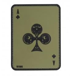 101 Inc. - Naszywa Ace of Clubs - 3D PVC - Zielony OD