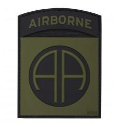 101 Inc. - Naszywka 82nd US Airborne Division - 3D PVC - Zielony