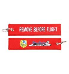 Brelok / Zawieszka do kluczy - REMOVE BEFORE FLIGHT - Blue Angels - Czerwony