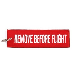 Brelok / Zawieszka do kluczy - REMOVE BEFORE FLIGHT - Large - Czerwony