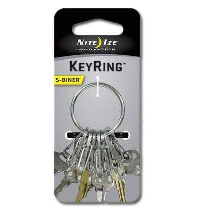 Nite Ize - S-Biner KeyRing Steel - Stalowy - KRGS-11-R3