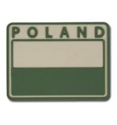 Helikon - Naszywka PVC - Flaga Polska - POLAND - Zielony / Tan