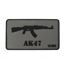 101 Inc. - Naszywka AK47 - 3D PVC - Szary/Czarny
