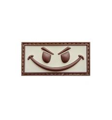 101 Inc. - Naszywka Evil Smiley - 3D PVC - Desert