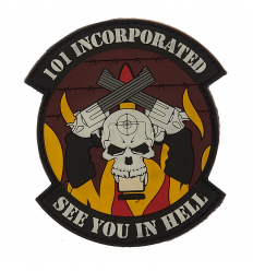 Patch - Naszywka SEE YOU IN HELL - 3D PVC