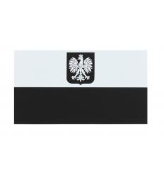 Combat-ID - Naszywka Polska Herb - Duża - Biały/Czarny - NIR