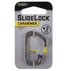 Nite Ize - SlideLock Carabiner '2 - Stalowy - CSL2-11-R6
