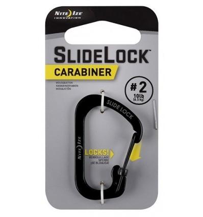 Nite Ize - SlideLock Carabiner '2 - Czarny - CSL2-01-R6