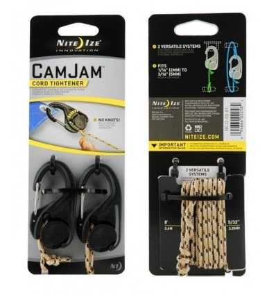 Nite Ize - CamJam Cord Tightener - 2Pack w/Rope - NCJ2-03-01