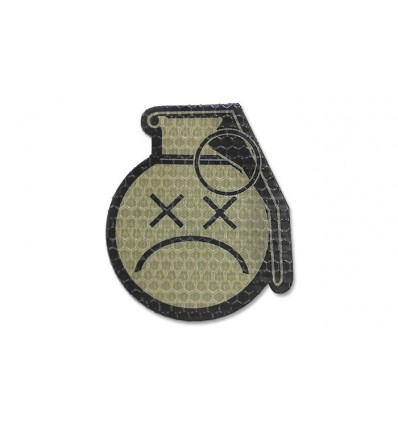 KAMPFHUND - Naszywka Sad Frag Grenade - Coyote Tan - Gen I