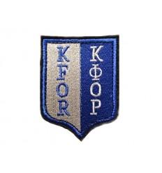 Naszywka czeskiej armii KFOR NATO - kolor