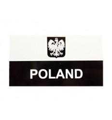 Combat-ID - Naszywka Polska Herb - JWK Lubliniec - Duża z napisem - Gen II A1  IR - Biały/Czarny