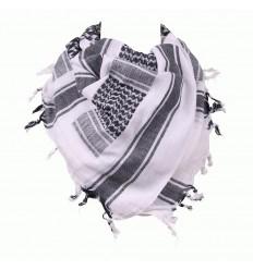 101 Inc. - Arafatka PLO Scarf 100% Cotton - Biały / Czarny