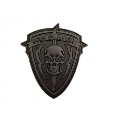 JTG - Naszywka TribalSkull ISIS SLAYER - 3D PVC - Black Ops