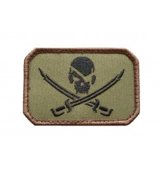 MIL-SPEC MONKEY - Naszywka PirateSkull Flag - Forest