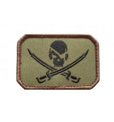 MIL-SPEC MONKEY - Naszywka PirateSkull Flag - Forest